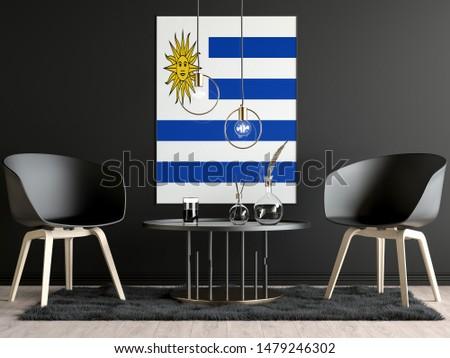 Uruguay Flag in Room, Uruguay Flag in Photo Frame #1479246302