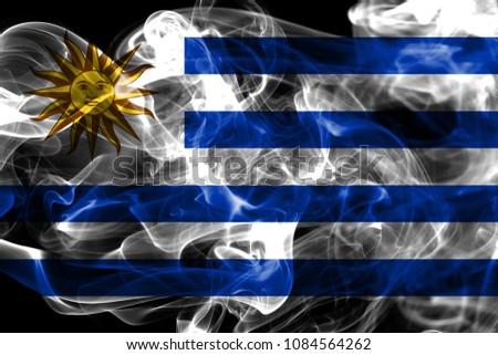 Uruguay smoke flag #1084564262
