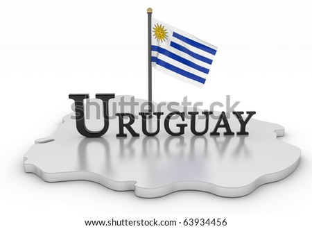 Uruguay Tribute/Digitally rendered scene with flag and typography