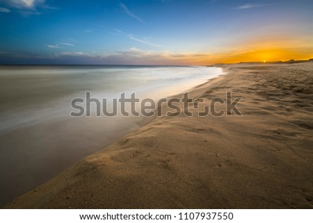 Uruguayan beaches are incredible, wild and virgin beaches wait for the one that wants to go to this amazing place where enjoy a wild and lonely beach. Here we can see the sunset at Oceania de Polonio\n