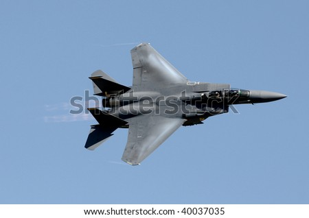 US Air Force jetfighter moving at high speed