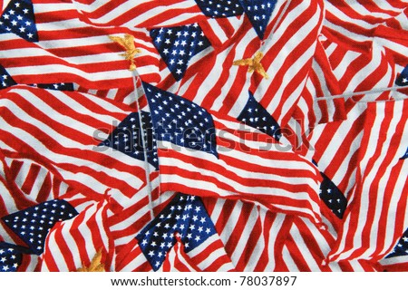 US American Flag on Pole Background