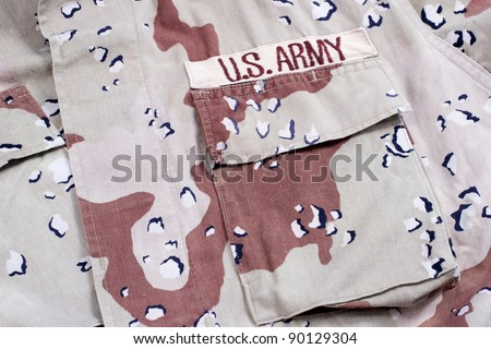 us army army desert storm camouflage uniform with name badge