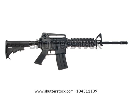 US Army carbine isolated on a white background