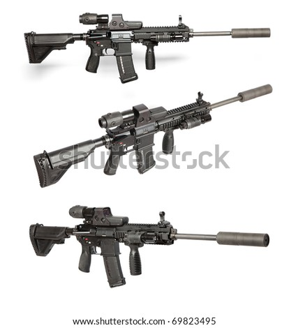 US Army M4 rifle isolated on white