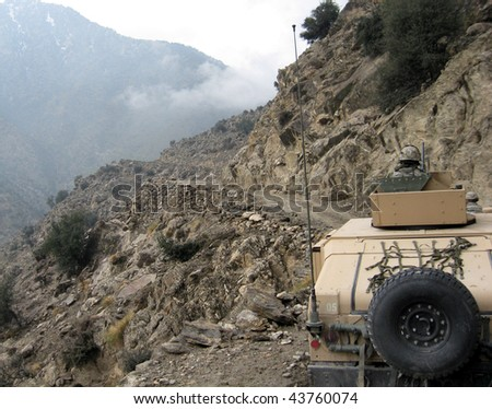 US Army patrol in Eastern Afghanistan