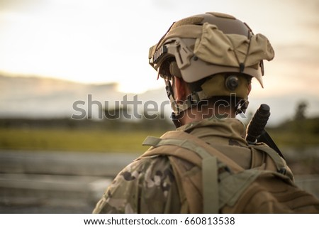 US Army soldier in the Mission