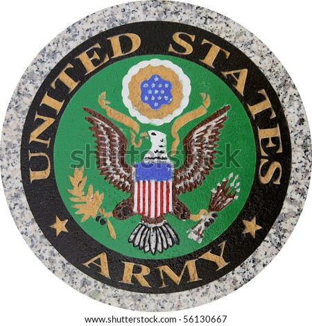US Army symbol version 1 carved in granite
