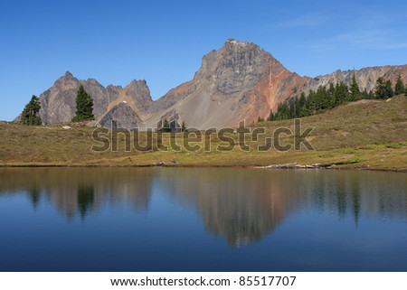 US-Canada Border Peaks and Reflections