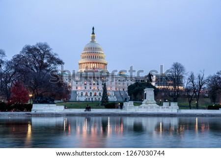 Christmas Time In Washington Dc.The White House In Christmas Washington Dc United States
