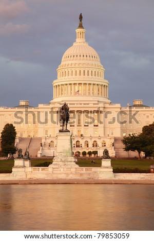 US Capitol Building at sunset, Washington DC