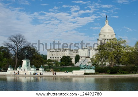 US Capitol Hill in spring - Washington DC, United States