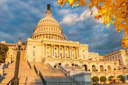 US Capitol illuminated by autumn sun