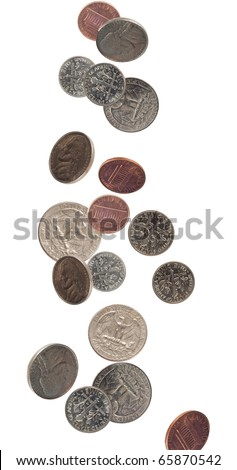 us coinage shot as if falling
