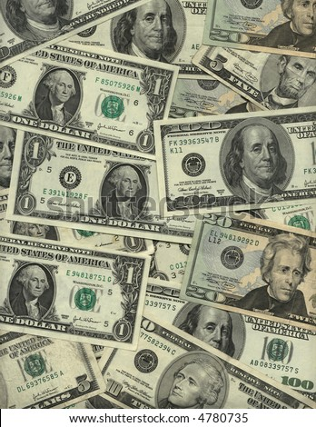 US currency background