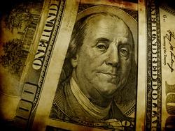 US dollar in grunge style
