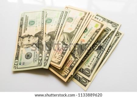 US Dollars Closeup Concept, American Dollars Cash Money, Dollar Banknotes, Dollar Bills, Dollars Money, Close-up American Dollar Banknotes, Currency of United States,  Paper Money, American Banknotes