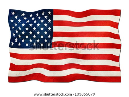 US Flag made of Paper