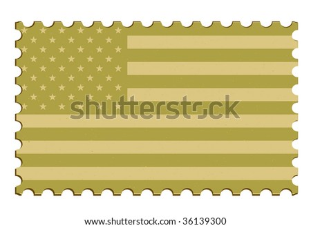 US Flag Postage Stamp