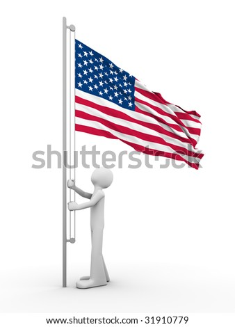 US flag-raising ceremony