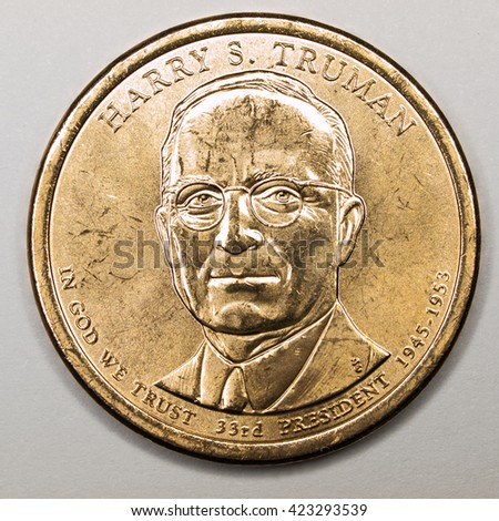 US Gold Presidential Dollar Featuring Harry S Truman