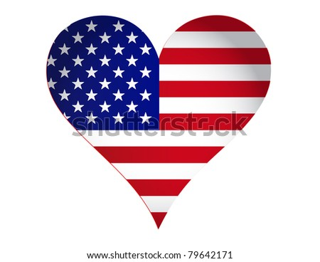 US heart illustration design isolated over a white background