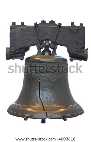 US Independence Bell isolated on white