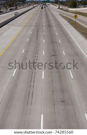 US interstate highway with traffic