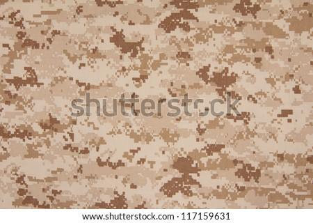 US marine desert marpat digital camouflage fabric texture background