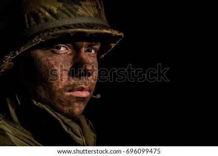 us marine  vietnam war  with...