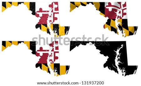 Us Map Photo Collage.Us Maryland State Flag Over Map Collage Ez Canvas