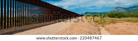 US Mexican Border in Arizona #220487467
