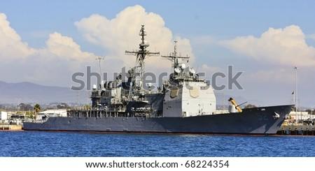 US Navy Battle Ship at San Diego Bay