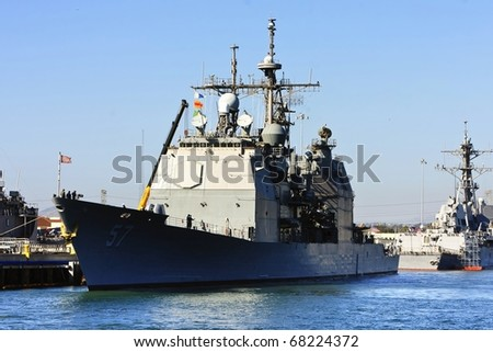 US Navy Battle Ship at San Diego Bay