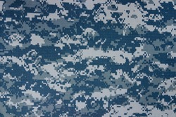 US navy digital camouflage fabric texture background