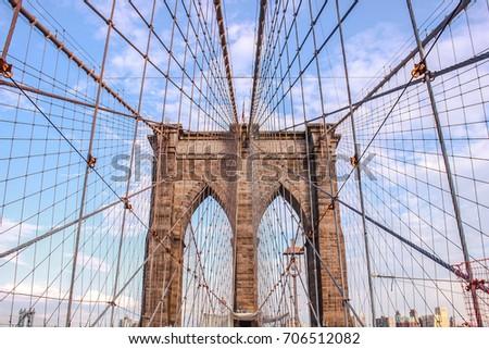 US New York Brooklyn Bridge