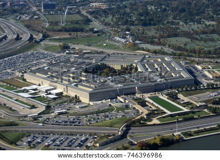 US Pentagon Washington DC seen from above ストックフォト ©