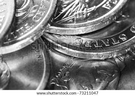 US Presidential Coins Gray Scale