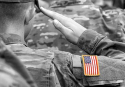US soldier salute. US army. US troops