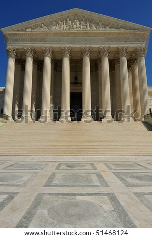 US Supreme Court Building, Washington, DC - stock photo