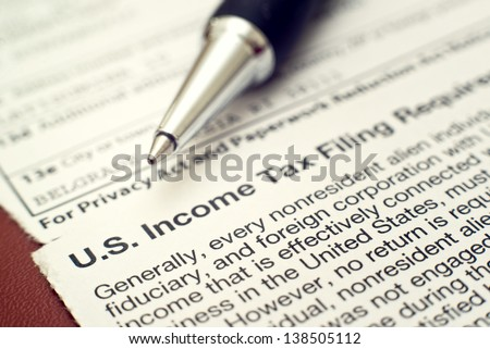 US tax form 1042, foreign person's US source income subject to Withholding