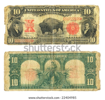 10 dollar bill clip art. stock photo : US ten dollar