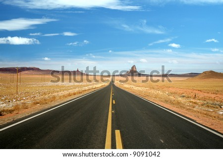 US 163, the scenic road to Monument Valley, Arizona