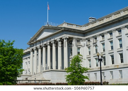 US Treasury Department building in Washington, DC