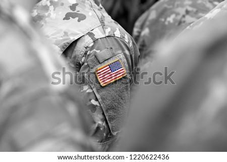 US troops. US soldiers. US army #1220622436