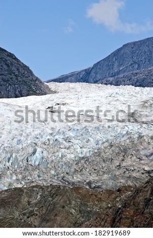 USA Alaska, Tongass National Forest, Mendenhall Glacier Recreation Area, Glacier texture, Travel destination / USA Alaska - Mendenhall Glacier - Texture
