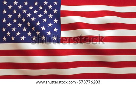 USA American flag background texture. #573776203