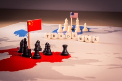 USA and China trade war concept. suitable also as South China Sea conflict