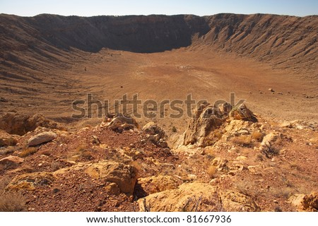 USA, Arizona, Meteor Crater close to Flagstaff