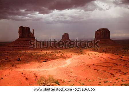 USA, ARIZONA, MONUMENT VALLEY - AUGUST 5,2012. The View of Monument Valley